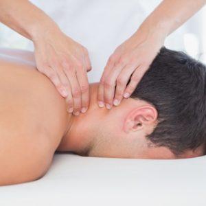 Galvos, sprando ir pečių juostos masažas